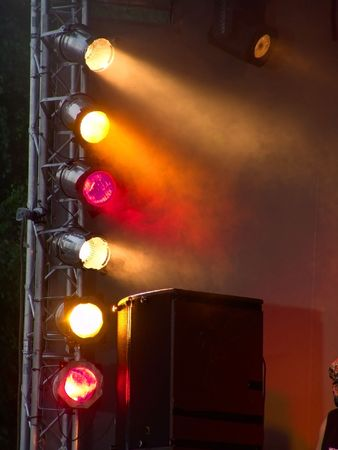 rock   roll: Stage lights during concert