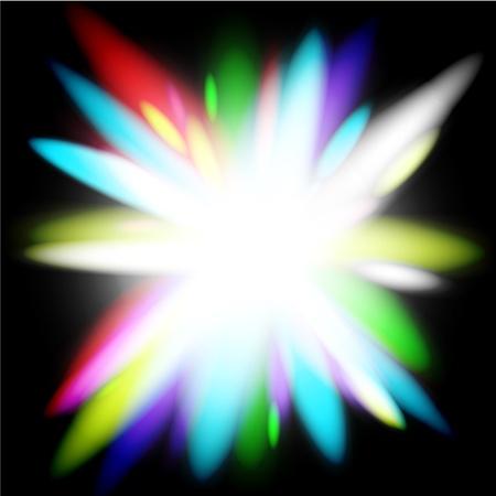 Rainbow light flower