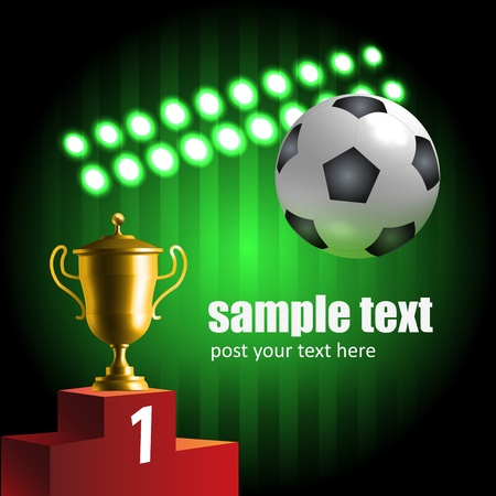 matches: Glowing soccer symbols championship composition Illustration