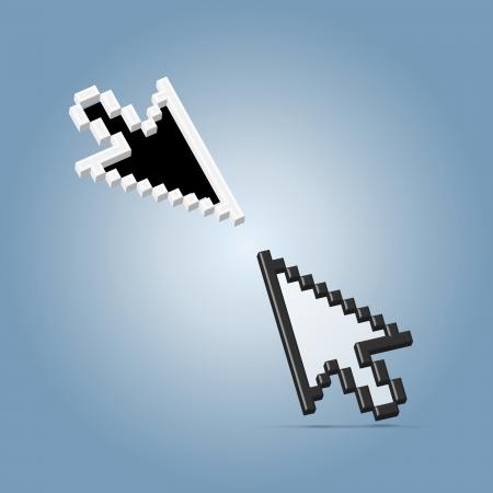 oposicion: Concepto comunicacional dos flechas puntero normal e invertida se encuentran en oposici�n Vectores