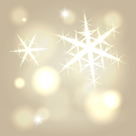 Golden ray snowflake warm abstract festive background