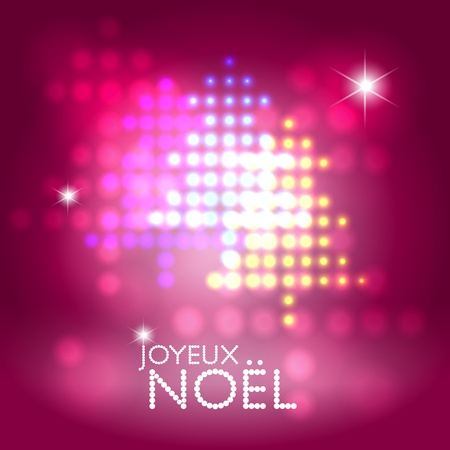 Seasonal greetings abstract stage lights christmas tree pattern background Vector