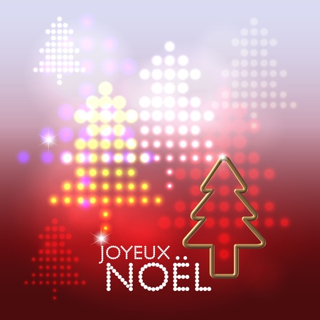 Seasonal greetings abstract stage lights christmas tree pattern background Illustration