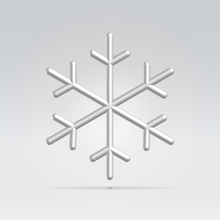 synopsis: Glossy silver snowflake icon winter concept illustration Illustration