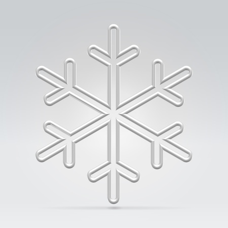 synopsis: Glossy silver snowflake icon winter decorative design concept illustration Illustration