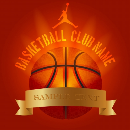 Basketball club decoration festive event logo poster example photo