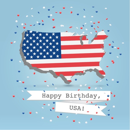 4 july celebration greeting card photo