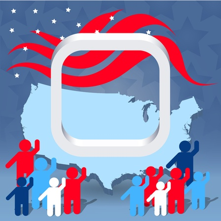 republicans: Election illustration concept with white checkbox Stock Photo