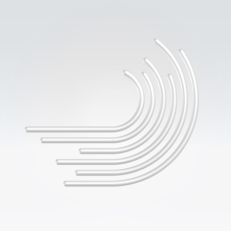 Abstract metal wire wave icon concept