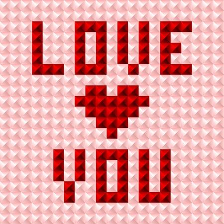 Silky valentine pattern postcard studded background