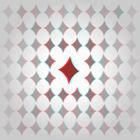 Clubs 3d anaglyph effect 3d decorative background