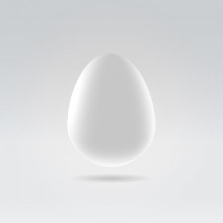 quinine: Pure white egg hanging in space studio closeup illustration