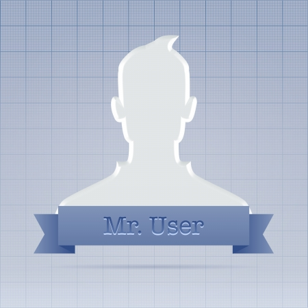 Anonymous social net user profile  Stock Photo