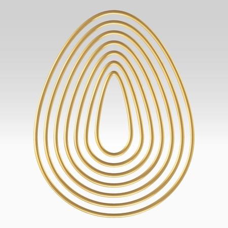 Golden wire egg illustration concept