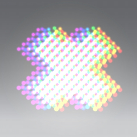 Holographic dots x letter
