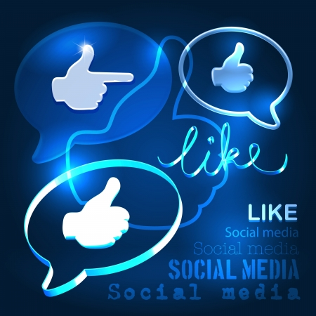 Social abstract background