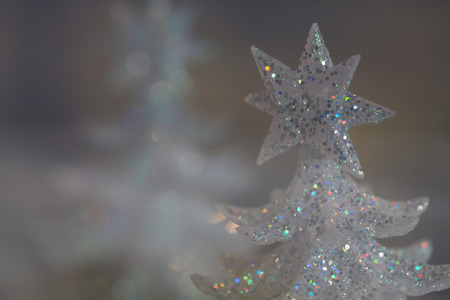 sparkly: Christmas tree decorations, sparkly abstract still life Stock Photo