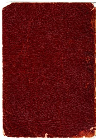 Rugged leather book cover. Hi-res scanned & optimised.
