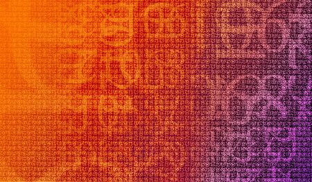 encrypted: Numbers encryption - Confidential concept, abstract background made of numbers Stock Photo