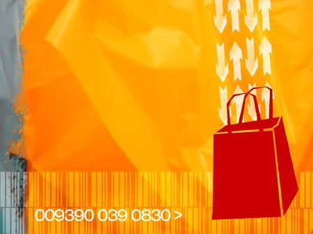 Illustrative concept for consumerism. shopping, sale, discount, etc. Stock Photo