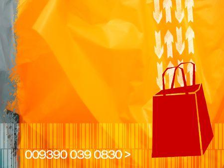 consumerism: Illustrative concept for consumerism. shopping, sale, discount, etc. Stock Photo