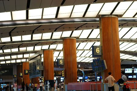 Airport scenes background series. Terminal two, Changi Airport Singapore.