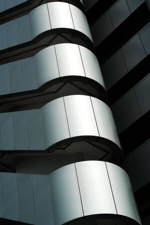 Hi-tech modern building details - Strong lines and patterns. Great as a background or a design element. Stock Photo