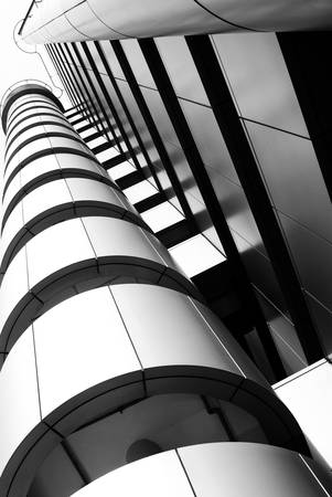 Hi-tech modern building details - Strong lines and patterns. Great as a background or a design element. Editorial