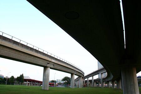 suspended: Highway bridges intersections, suspended train railway.