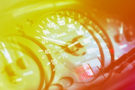 Conceptual background - Speed. Multiple exposure effect.