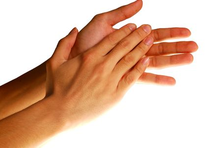 Hands in action - Clapping hands. concept for success, appreciation, etc.