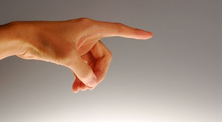 Body parts - Pointing hand. concept for accusation, blame, etc.