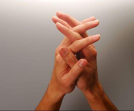 Body parts - Clasped hands, concept for reach, hope, prayer, etc. photo