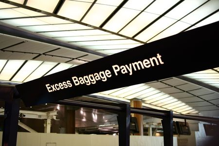 excessive: Airport scenes background series. Excess Baggage Payment Counter.