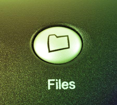 folder or files media shortcut button Stock Photo