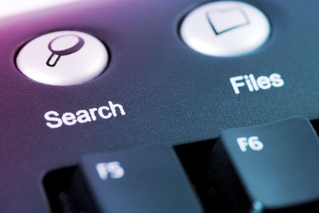 close-up shot of seach or files media shortcut button