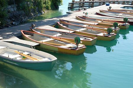 rowboats: Fishing Boats on the Walchensee