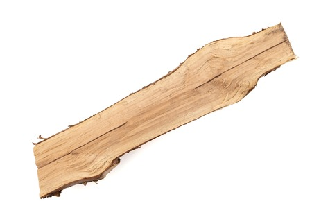 A wooden log over white background, isolated