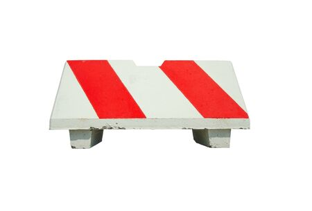 An isolated concrete barrier over white background