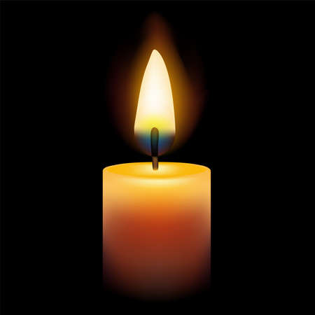 Concept of meditation and spirituality, with the flame of a candle burning and bringing light.