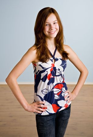 Teenage girl with hands on hips Stock Photo - 6394445