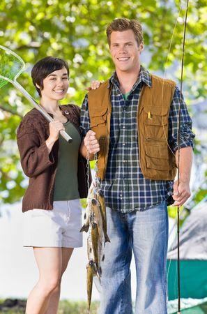 Couple fishing photo
