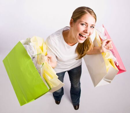 Woman holding shopping bags Stock Photo - 6582305