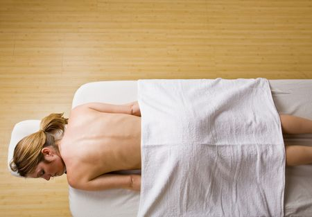 Woman waiting for massage