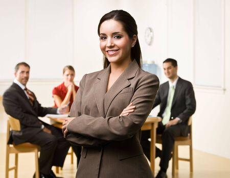 Businesswoman smiling photo