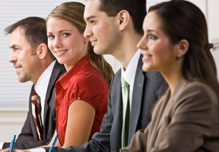 Business people in meeting photo