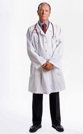 Doctor in lab coat and stethoscope Standard-Bild