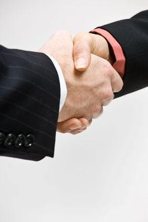 men shaking hands: Business people handshaking