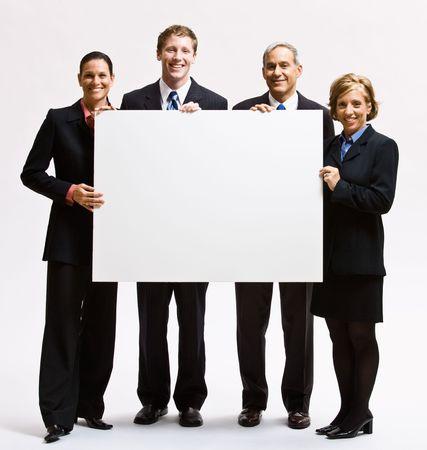 Zaken mensen bedrijf leeg papier