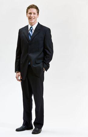 Businessman smiling Banco de Imagens